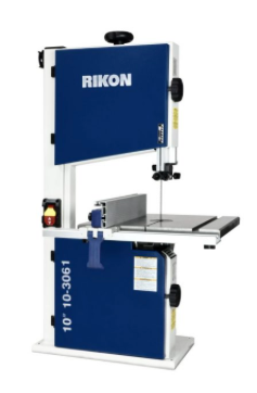 "Rikon-10-3061 Deluxe 10"" Bandsaw 1/2 hp 2 speed -tool less guides- 70.5"" blades"