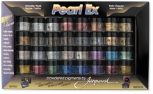 Jacquard Paerl Ex-32 x 3gm - Pearl Ex Powder Colors, Metallic, interferance, duo and fashion colors.
