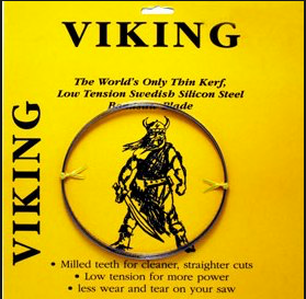 "153"""" x 3/4"""" x 3TPI Viking-thin kerf, low tension, milled teeh,Swedish Silicon Steel"