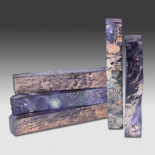 "Stabilized Box Elder Burl Purple 3/4""X3/4""x6"""