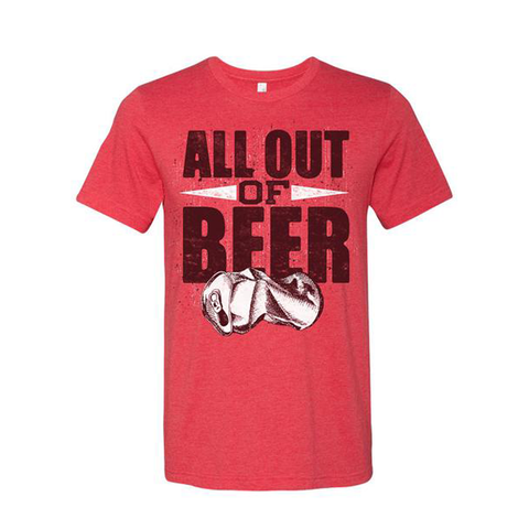 Unisex All Out Of Beer Tee