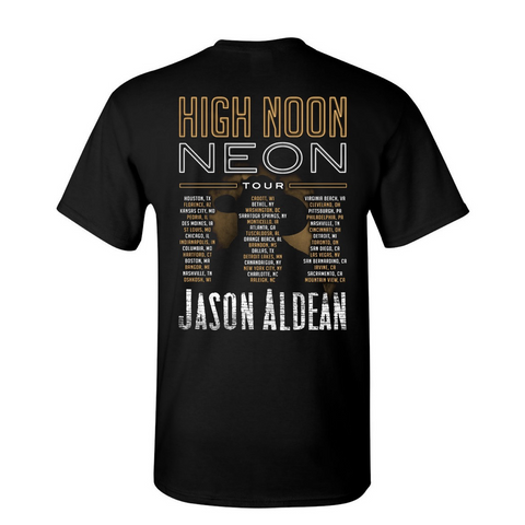 High Noon Neon Tour Black Photo Tee