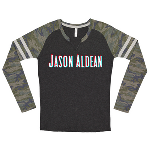 Jason Aldean Camo Ladies Long Sleeve