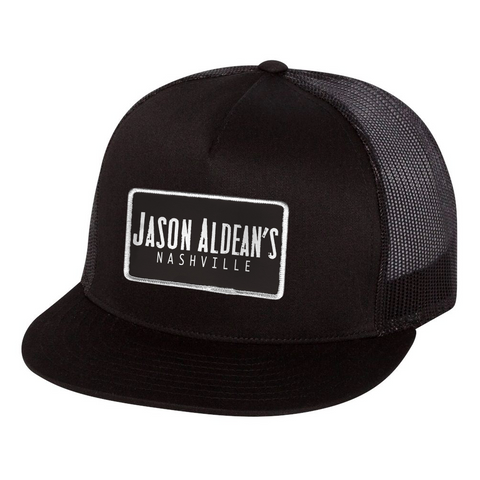 Jason Aldean's Nashville Black Patch Hat