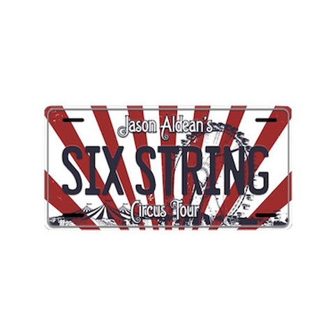 Six String Circus License Plate