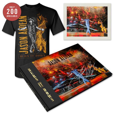 Signed Jason Aldean BURN IT DOWN Photo Book Bundle