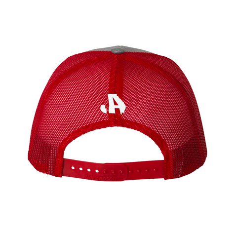 Grey Red Trucker Hat
