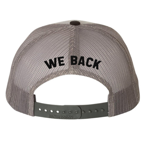 Grey Patch Trucker Hat