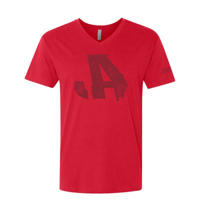 Red Logo V-Neck
