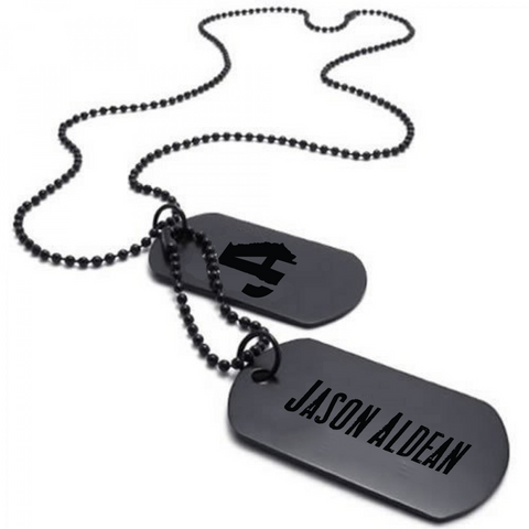 Jason Aldean Black Dog Tags