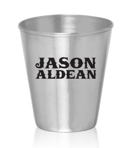 Whiskey'd Up Stainless Steel Shot Glass
