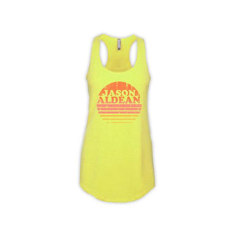 Ladies Neon Sunset Tank