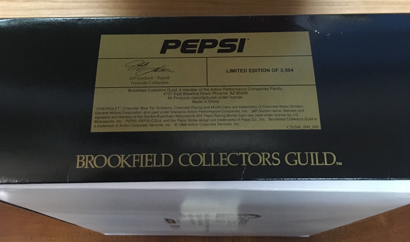 JEFF GORDON/ PEPSI TRACKSIDE COLLECTION BROOKFIELD COLLECTORS GUILD