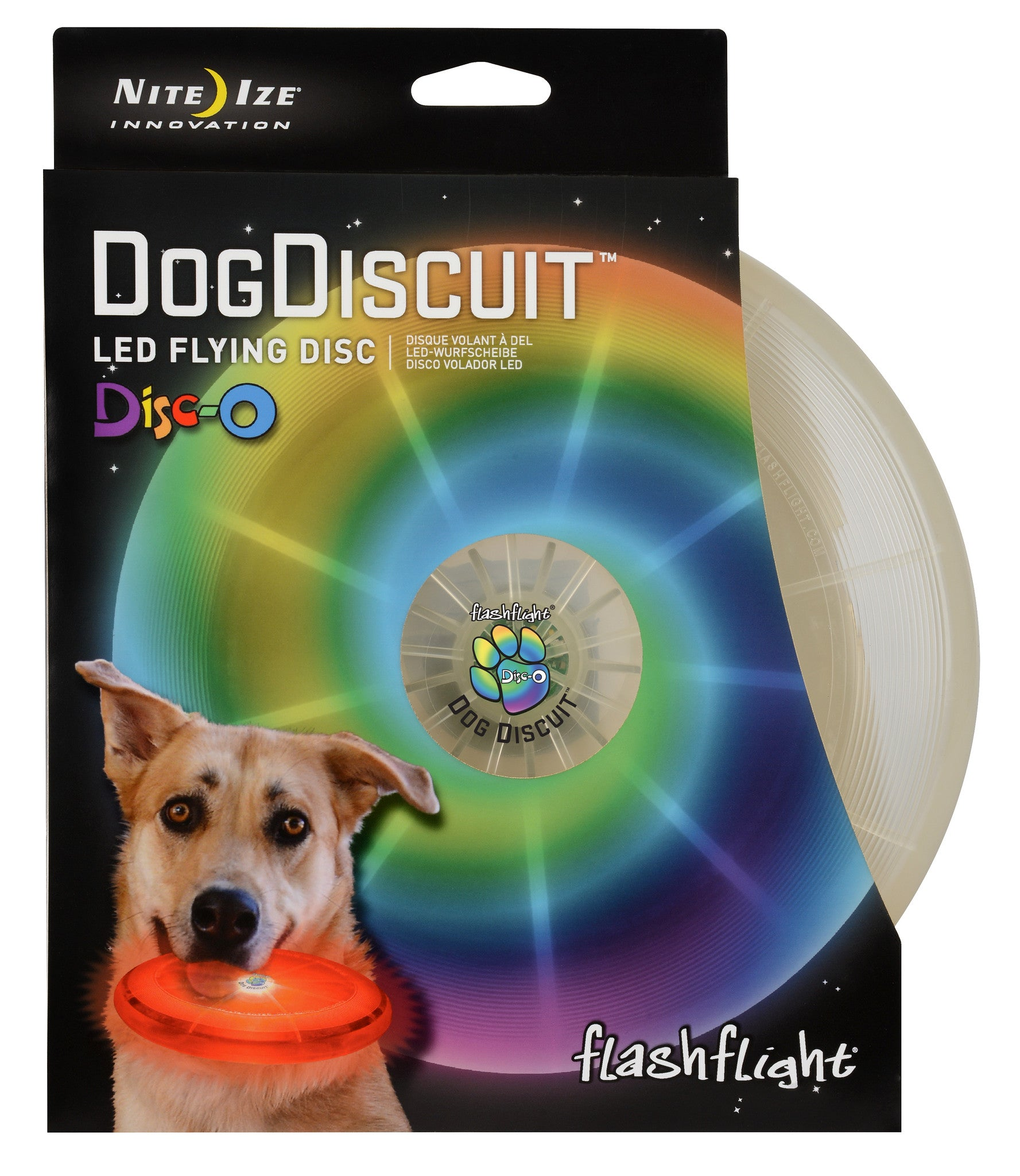 Dog Discuit LED Flying Disc - Flashflight.com - 3