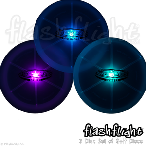 Flashflight LED Light Up Golf Disc Set 'Disc-O Select'