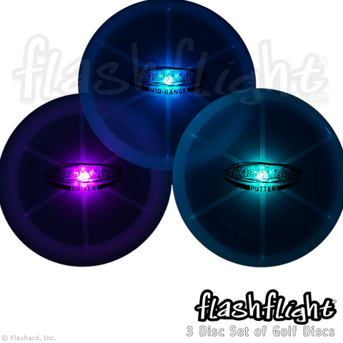 Flashflight LED Light Up Golf Disc - Set - Flashflight.com - 1