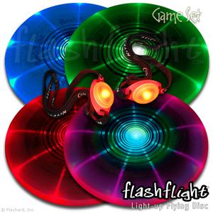 Flashflight Game Set LED Light Up Flying Disc