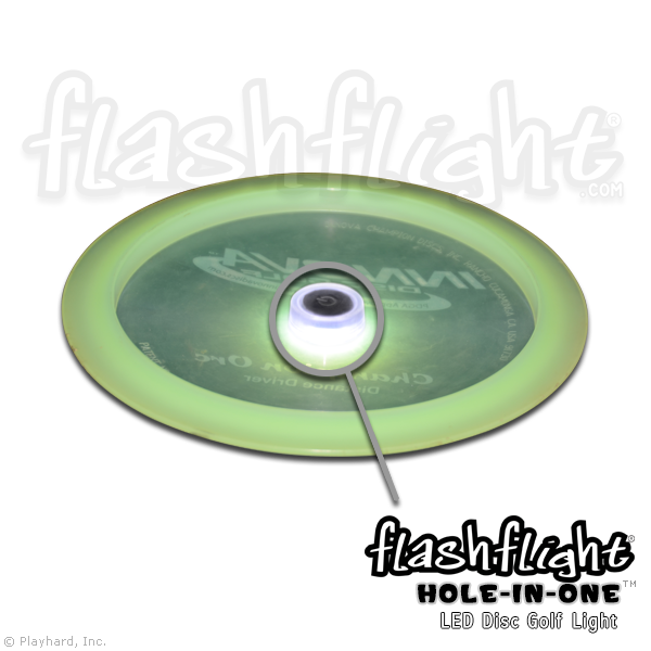 Flashflight Hole-In-One Disc Golf LED Light - Flashflight.com - 1