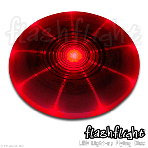 Flashflight LED Light-Up Flying Disc 'Red'