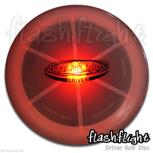 Flashflight LED Light Up Golf Disc Driver 'Disc-O Select'