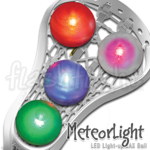 MeteorLight LED Light-Up Flashflight Lacrosse Ball 'Disc-O Select'