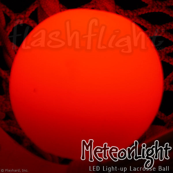 red led light-up lacrosse ball