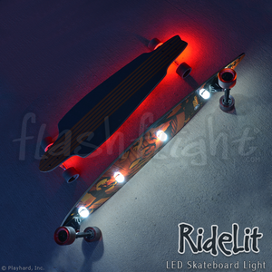 RideLit LED Light-Up Skateboard Light 'Red' 'White'