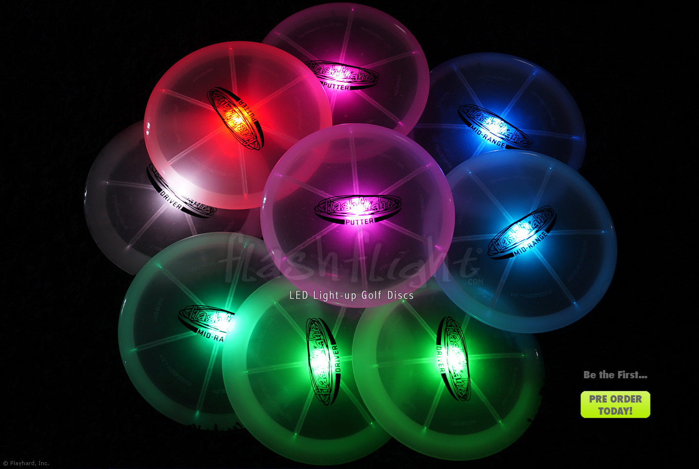 Light-up Golf Discs