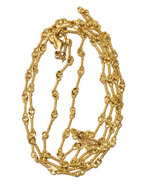"16"" Double Twist Yellow Gold Chain"