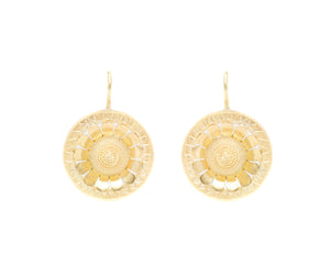 Etruscan Revival Disc Earring
