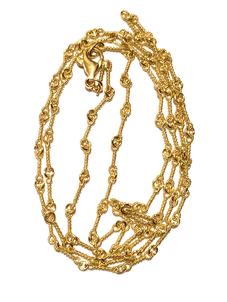 "24"" Heavy Double Twist Yellow Gold Chain"