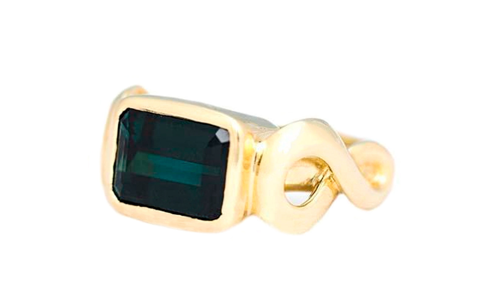 Infinity Green Tourmaline Ring
