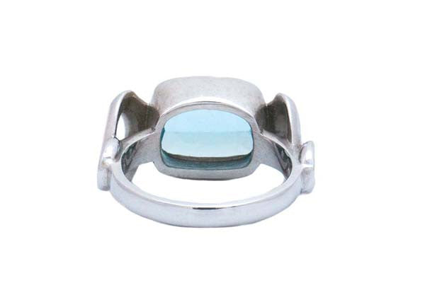 Infinity Aquamarine Ring
