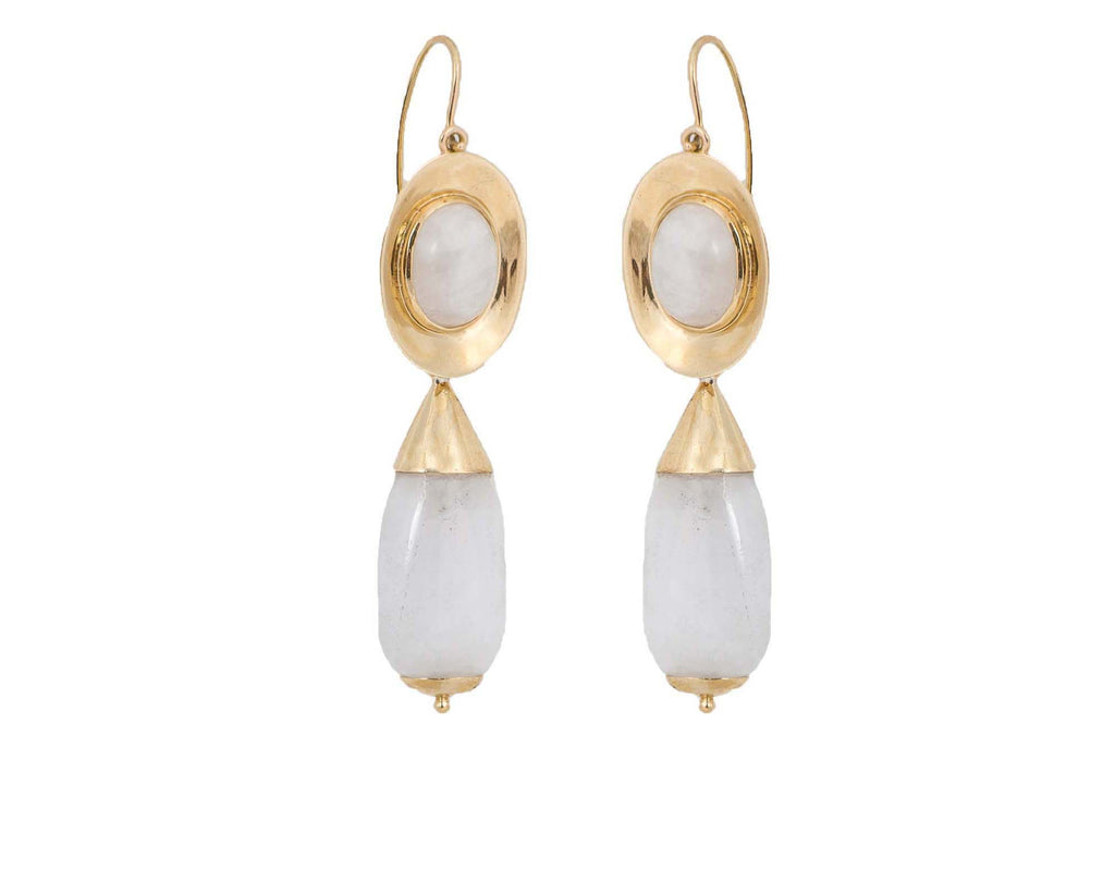 Italian Inspired Day to Night Earrings, White Quartz