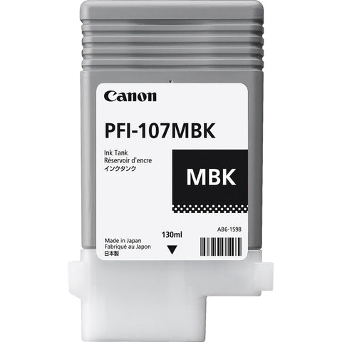 Canon 130ml PFI-107MBK Ink Tank Cartridge (MPN: 6704B001AA)