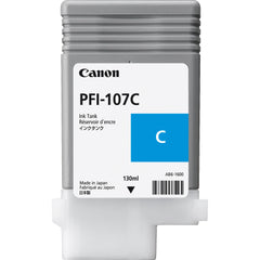 Canon 130ml PFI-107C Ink Tank Cartridge (MPN: 6706B001AA)