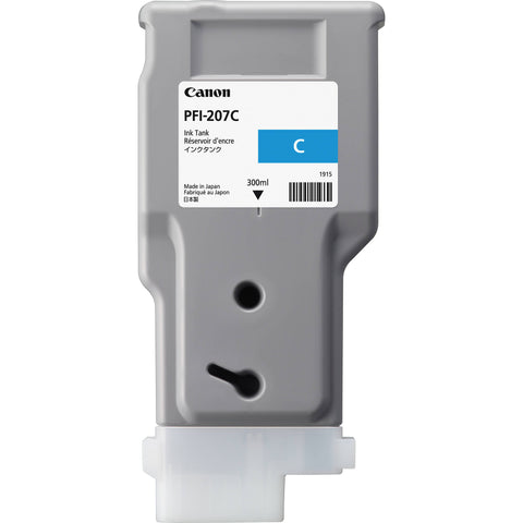 Canon 300ml PFI-207C Ink Tank Cartridge (MPN: 8790B001AA)
