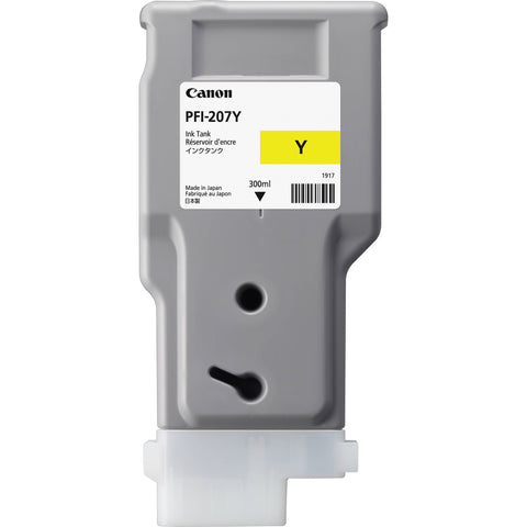 Canon 300ml PFI-207Y Ink Tank Cartridge (MPN: 8792B001AA)