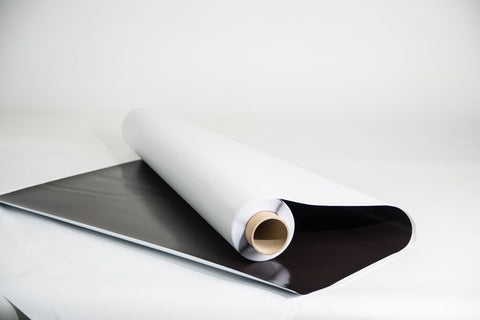 Drytac Magnetic Sheeting with Adhesive Multi-purpose magnetic sheeting with a pressure sensitive adhesive coated on one side