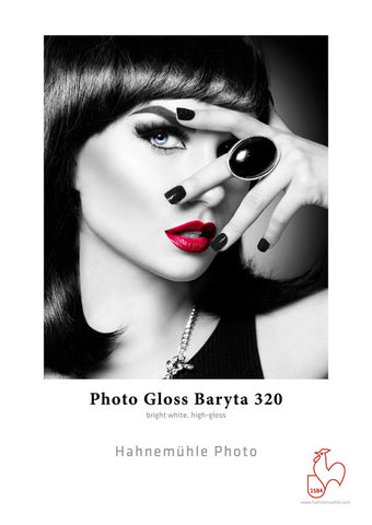 Hahnemuhle Photo Gloss Baryta 320gsm  NEW IN 2017