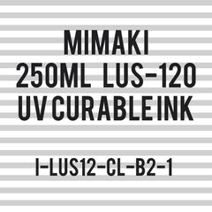 Mimaki LUS-120 UV curable ink 250cc bottle - Clear (MPN: LUS12-CL-B2)