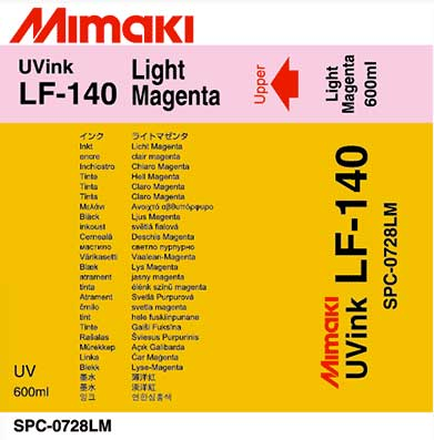 Mimaki LF-140 Light Magenta  Flexible Ink 600ml (MPN: SPC-0728Lm600cc)
