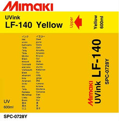 Mimaki LF-140 Yellow Flexible Ink 600ml (MPN: SPC-0728Y600cc)