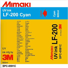 Mimaki LF-200 UV - Cyan 600ml Ink Cartridge (MPN: SPC-0591C)