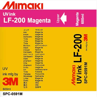 Mimaki LF-200 UV - Magenta 600ml Ink Cartridge (MPN: SPC-0591M)