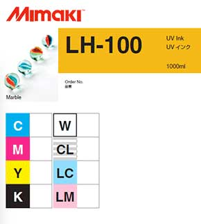 Mimaki LH-100 UV curable ink 1L bottle Clear (MPN: LH100-CL-BA)