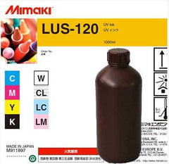 Mimaki LUS-120 UV curable ink 1L bottle Light Cyan. (MPN: LUS12-LC-BA)