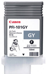 Canon 130mL Gray Ink Tank Cartridge - PFI-101GY (MPN: 2213B001AA)