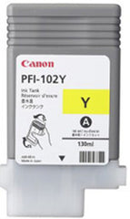 Canon 130mL Yellow Ink Tank Cartridge - PFI-102Y (MPN: 0898B001AA)