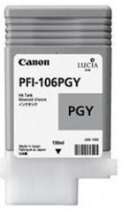 Canon 130mL Photo Gray Ink Tank Cartridge - PFI-106PGY (MPN: 6631B001AA)